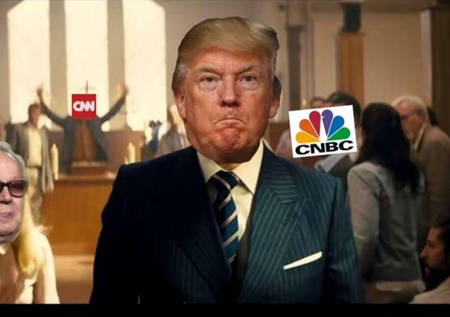 白宮記者譴責「特朗普」向媒體代表開槍視頻