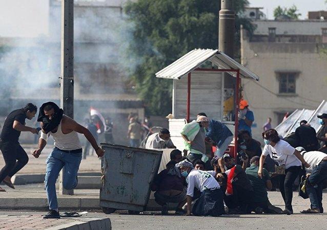 伊拉克警方向巴格达市中心示威人群开火致人死亡