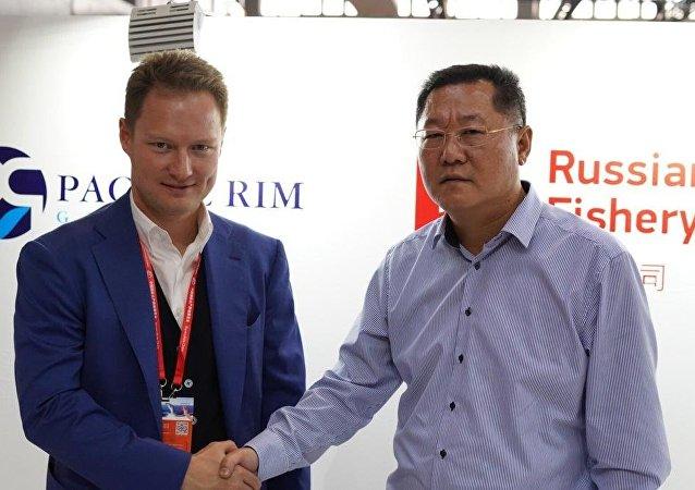 俄企业在中国国际渔业博览会签署万吨出口大单