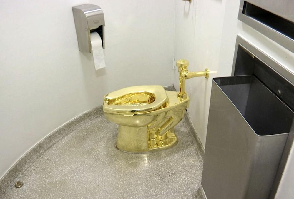 在牛津郡布伦海姆宫中的金马桶