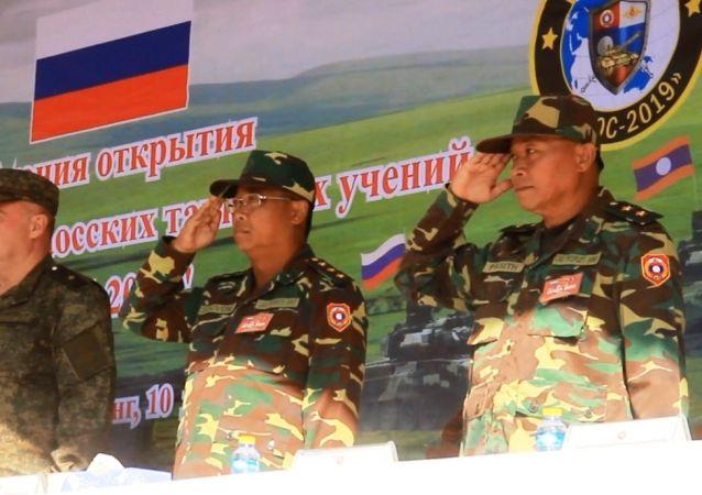 俄羅斯與老撾聯合軍演(資料圖片)