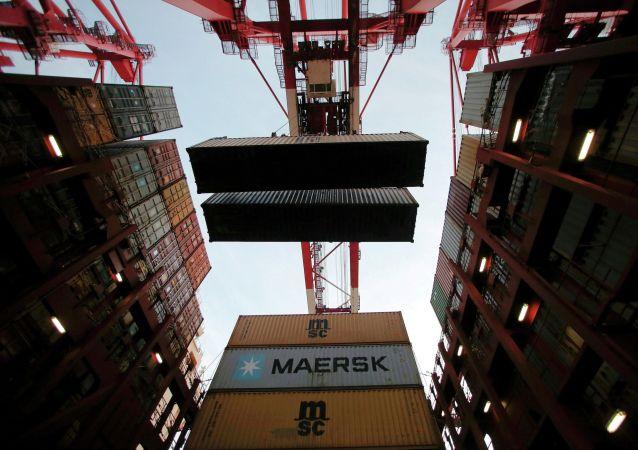 俄海关为马士基公司由东南亚至土耳其新线路运输的集装箱办手续