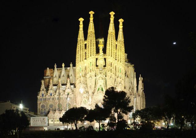 巴塞罗那著名圣家族大教堂