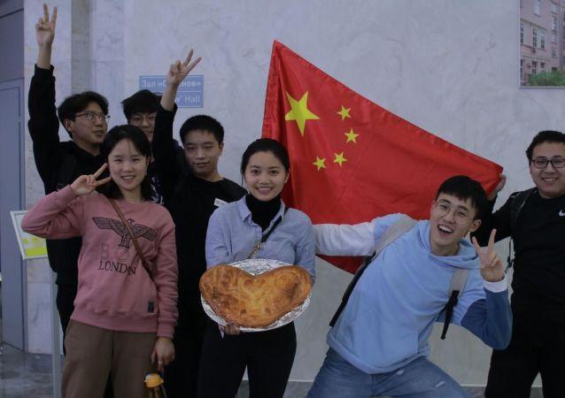 中國學生在俄羅斯