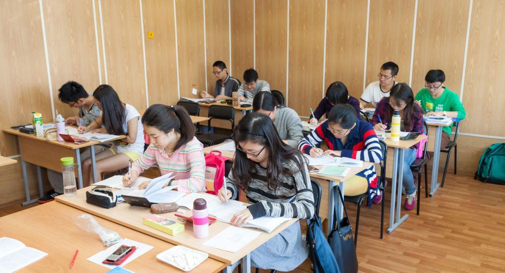 普希金俄语学院的中国学生