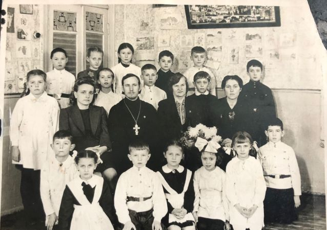 哈尔滨俄侨后代的班级合照(1943年,哈尔滨)