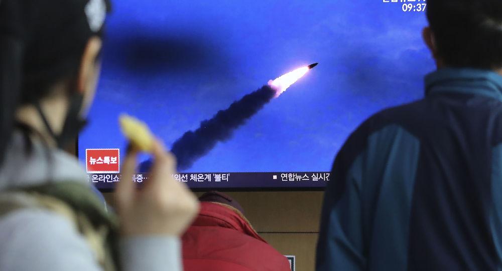 日本海上保安廳稱朝鮮第二次發射導彈