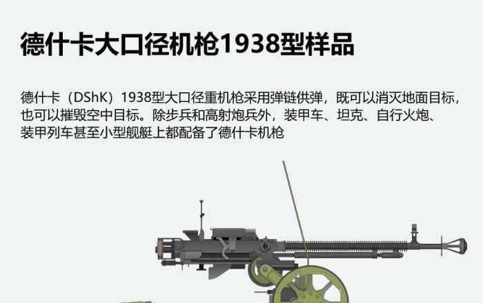 德什卡大口径机枪1938型样品