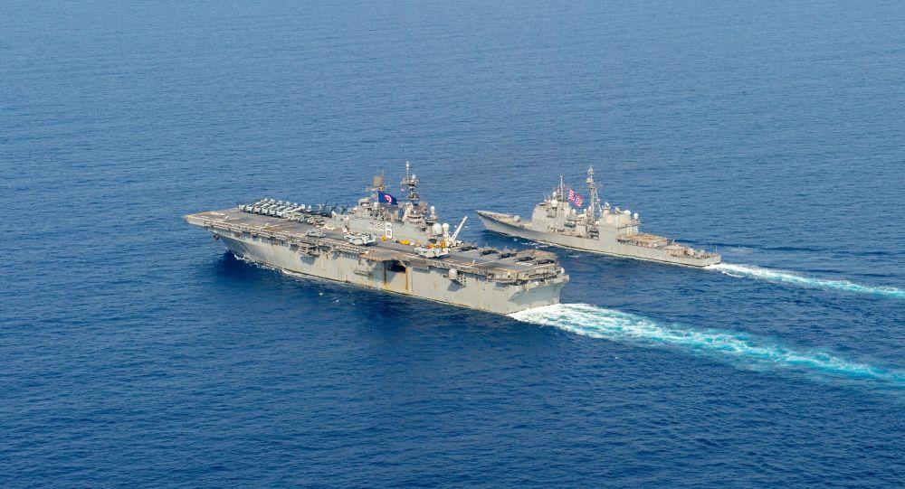 美国海军从阿拉伯海一船只上查获俄中两国制造的武器