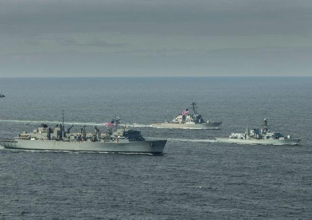 北约舰艇在巴伦支海的行动