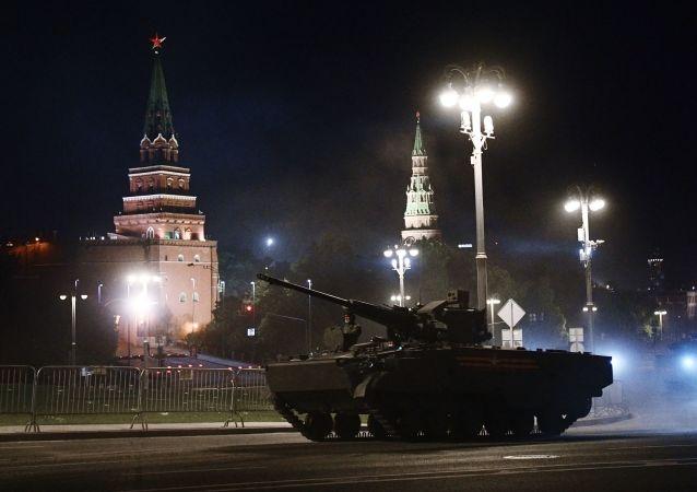 俄羅斯勝利閱兵首次夜間操練將在莫斯科紅場進行