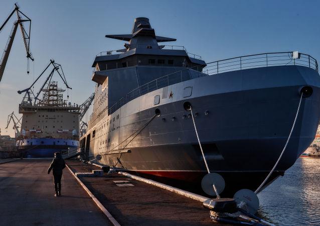 俄羅斯軍民兩用北極破冰船或將配備「口徑」導彈系統