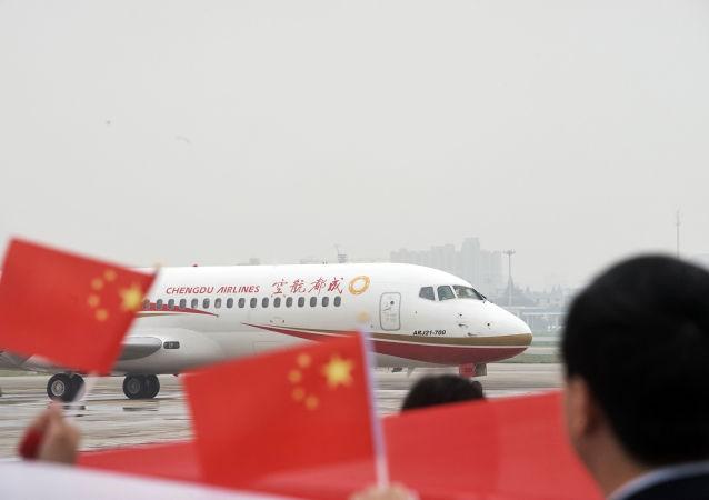 中国国产ARJ21支线客机已交付38架
